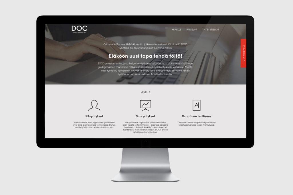 DOC nettisivut selaimessa