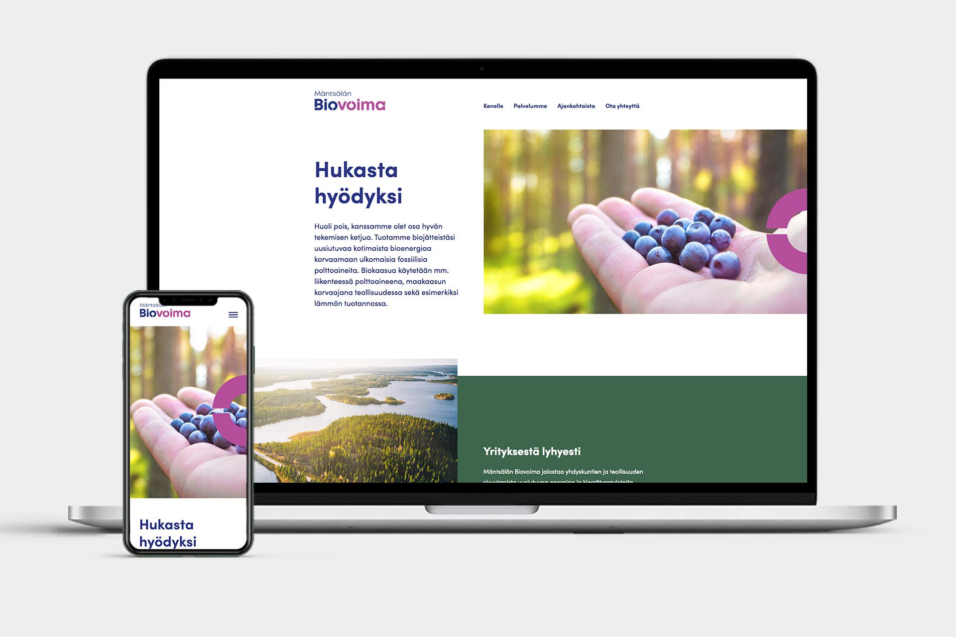Mäntsälän Biovoima verkkosivut