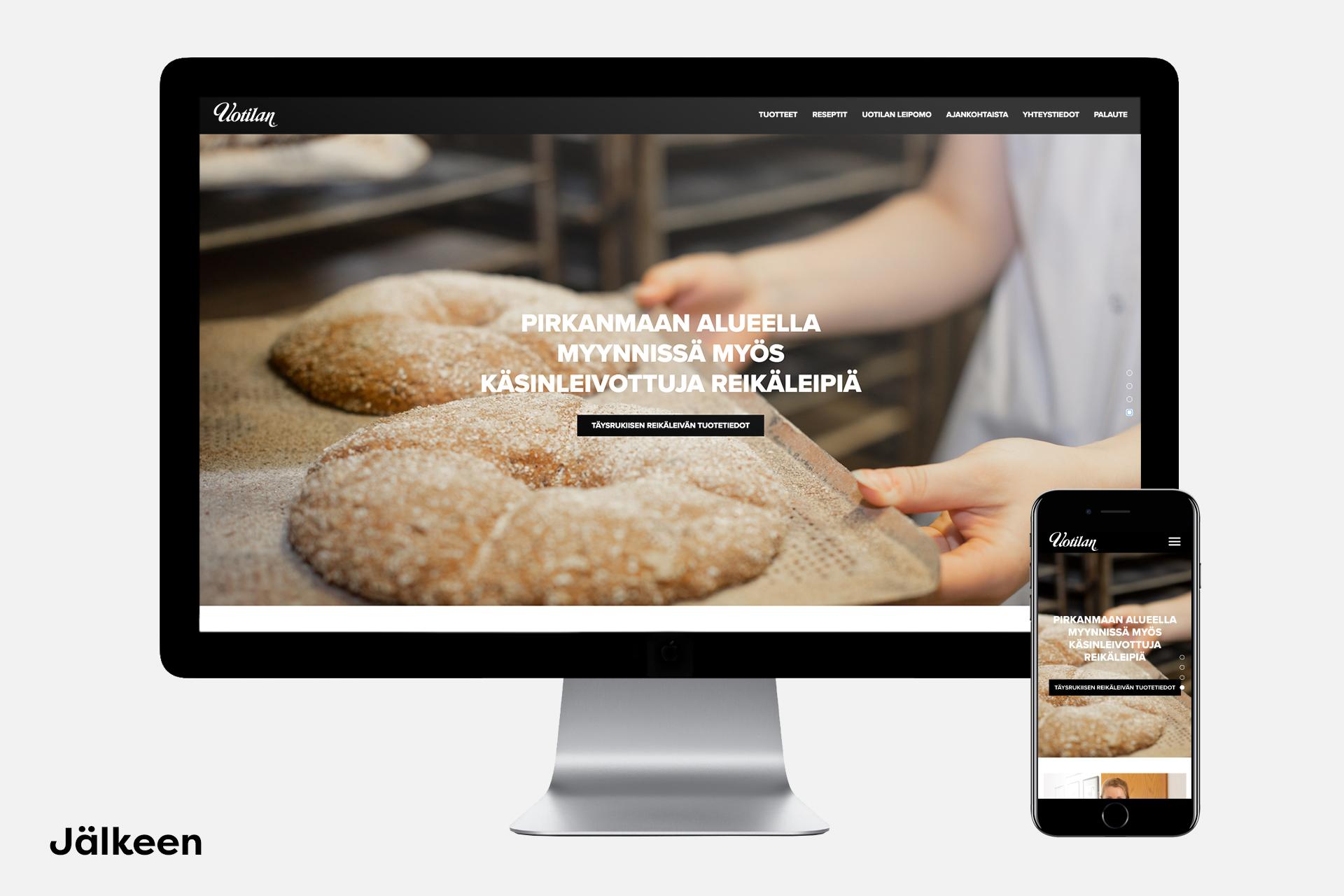 Uotilan leipomo casekuva uudet verkkosivut