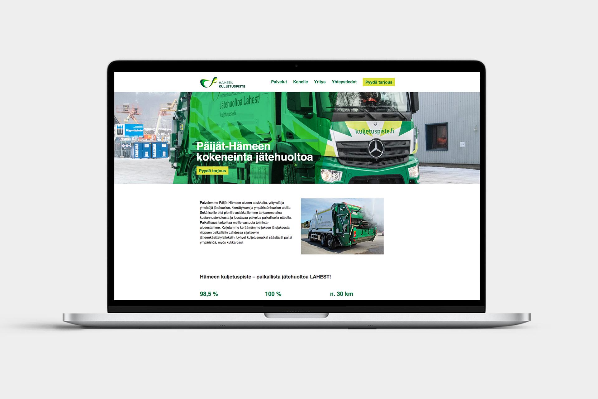 Hämeen Kuljetuspiste verkkosivut