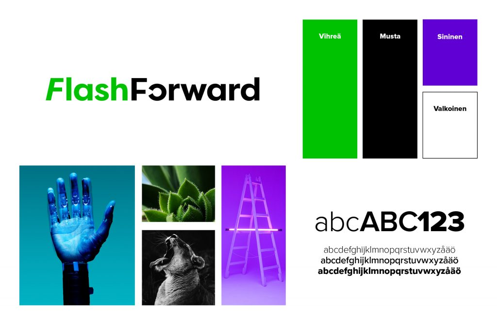 FlashForward visuaalinen ilme