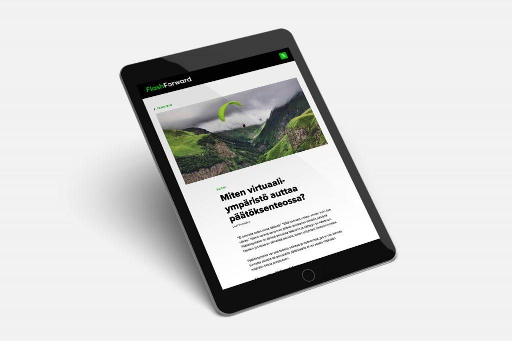 FlashForward verkkosivut